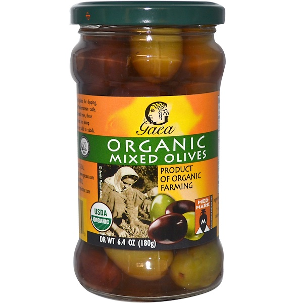 Gaea, Organic Mixed Olives, 6.4 oz (180 g) (Discontinued Item)