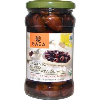 Gaea, オーガニック種抜きカラマタオリーブ, 10.2オンス(290 g)