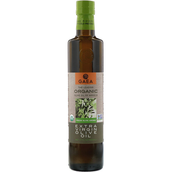 Gaea, Organic Extra Virgin Olive Oil, 17 fl oz (500 ml)