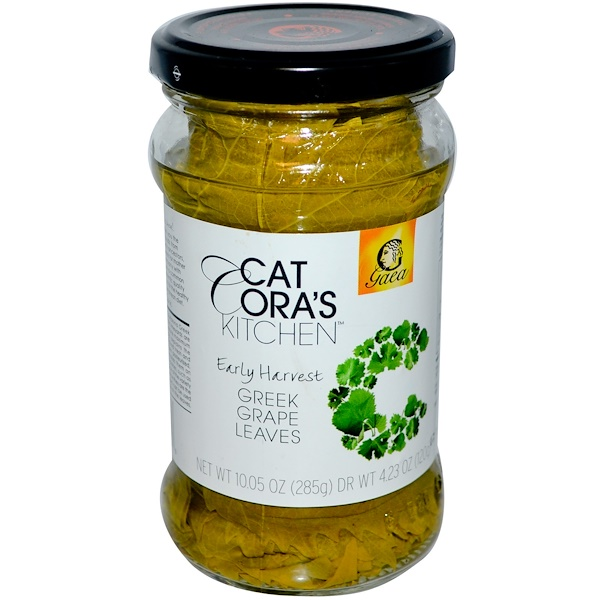 Gaea, Cat Cora's Kitchen, Early Harvest, Greek Grape Leaves, 10.05 oz (285 g) (Discontinued Item)
