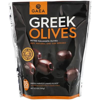 Купить Gaea Греческие оливки, оливки каламата без косточек, 5, 3 унции (150 г)