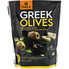 Gaea, Greek Olives, Pitted Mixed Olives, Marinated With Basil and Lemon, 5.3 oz (150 g)