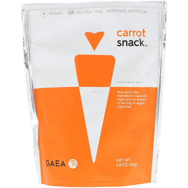 Gaea, Carrot Snack, 2.8 oz (80 g)