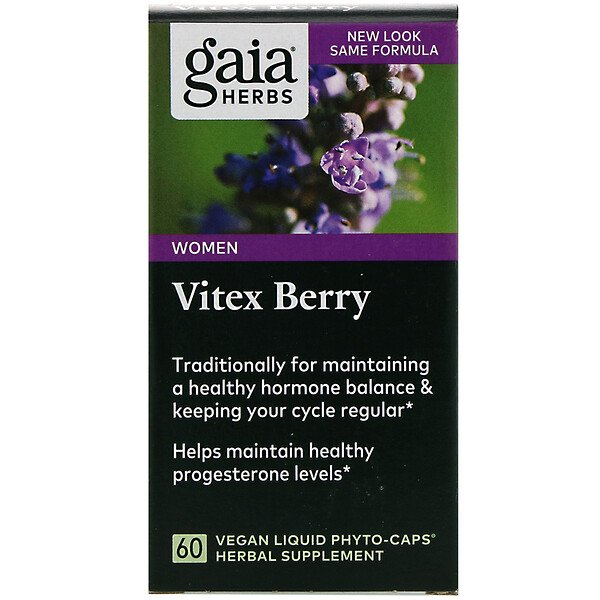 Gaia Herbs, Vitex Berry, 60 Vegan Liquid Phyto-Caps
