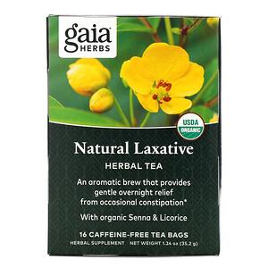 Гайа Хербс, Natural Laxative, Herbal Tea, Caffeine-Free, 16 Tea Bags, 1.24 oz (35.2 g) отзывы покупателей