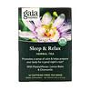 Gaia Herbs, Herbal Tea, Sleep & Relax, Caffeine-Free, 16 Tea Bags, 0.96 oz (27.2 g)