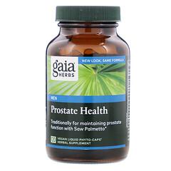 Gaia Herbs, 攝護腺健康,120粒素食液體植物膠囊