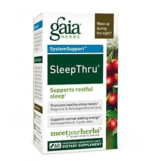 Gaia Herbs, SleepThru, 60 Vegetarian Liquid Phyto-Caps