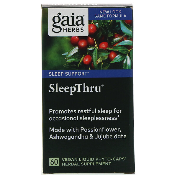 SleepThru, 60 Vegan Liquid Phyto-Caps