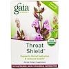 Gaia Herbs, Throat Shield, Caffeine Free, 16 Tea Bags, 1.02 oz (28.8 g)