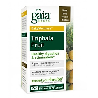 Gaia Herbs, Трифала фрукты, 60 вегетарианских капсул
