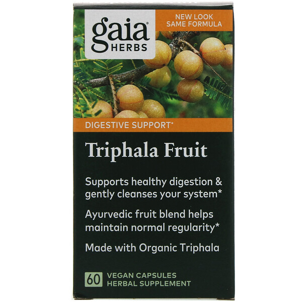 Triphala Fruit, 60 Vegan Capsules