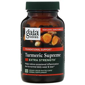 Гайа Хербс, Turmeric Supreme, Extra Strength, 120 Vegan Liquid Phyto-Caps отзывы покупателей