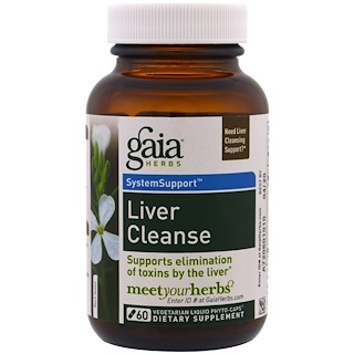 Gaia Herbs, リバークレンズ, 60植物性液体フィトカプセル