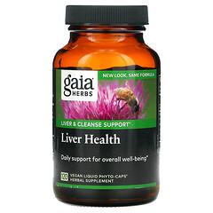 Gaia Herbs, 肝功能健康液體素食膠囊,120 粒