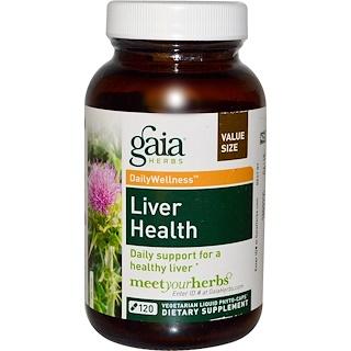 Gaia Herbs, Liver Health, 120 Vegetarian Liquid Phyto-Caps