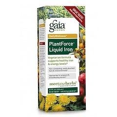 Gaia Herbs, PlantForce Liquid Iron, 8.5 fl oz (250 ml)