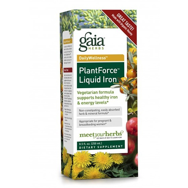 Gaia Herbs, PlantForce Liquid Iron, 8.5 fl oz (250 ml)