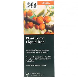 Gaia Herbs, Plant Force Liquid Iron, 16 fl oz (473 ml)