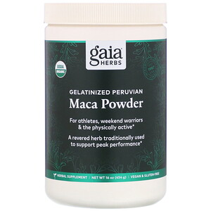 Гайа Хербс, Gelatinized Peruvian Maca Powder, 16 oz (454 g) отзывы покупателей