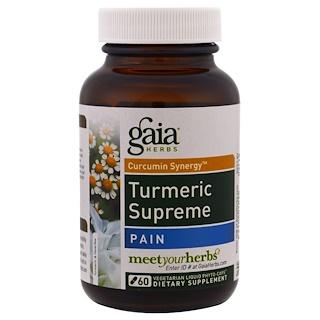 Gaia Herbs, Turmeric Supreme, Pain, 60 Vegetarian Liquid Phyto-Caps