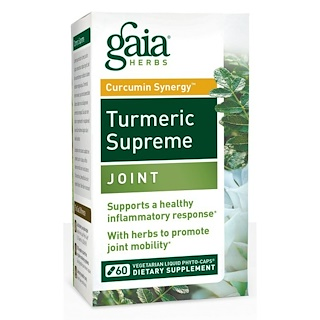 Gaia Herbs, Turmeric Supreme, Joint, 60 Vegetarian Liqiud Phyto-Caps