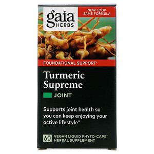 Гайа Хербс, Turmeric Supreme, Joint, 60 Vegan Liquid Phyto-Caps отзывы