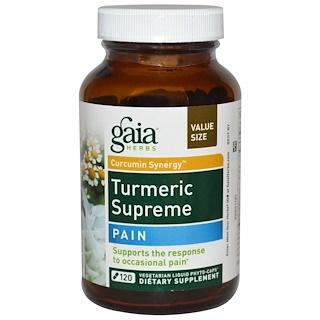Gaia Herbs, Turmeric Supreme, Pain , 120 Vegetarian Liquid Phyto-Caps