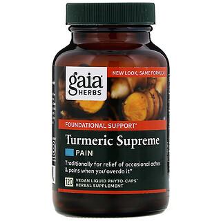 Gaia Herbs, Turmeric Supreme, Pain, 120 Vegan Liquid Phyto-Caps
