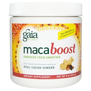 Gaia Herbs, Maca Boost, Real Cacao-Ginger, 8 oz (227 g)