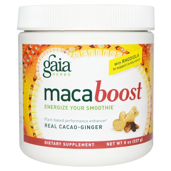 Gaia Herbs, Maca Boost, Real Cacao-Ginger, 8 oz (227 g) (Discontinued Item)