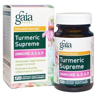 Gaia Herbs, Turmeric Supreme, Immune A.S.A.P., 20 Veggie Liquid Phyto-Caps