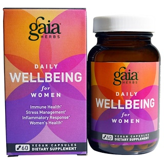 Gaia Herbs, Daily Wellbeing, for Women, 60 Vegan Capsules