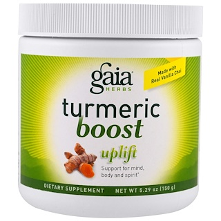 Gaia Herbs, TurmericBoost, Uplift, 5.29 oz (150 g)