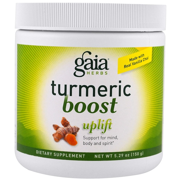 Gaia Herbs, TurmericBoost, Uplift, 5.29 oz (150 g) (Discontinued Item)