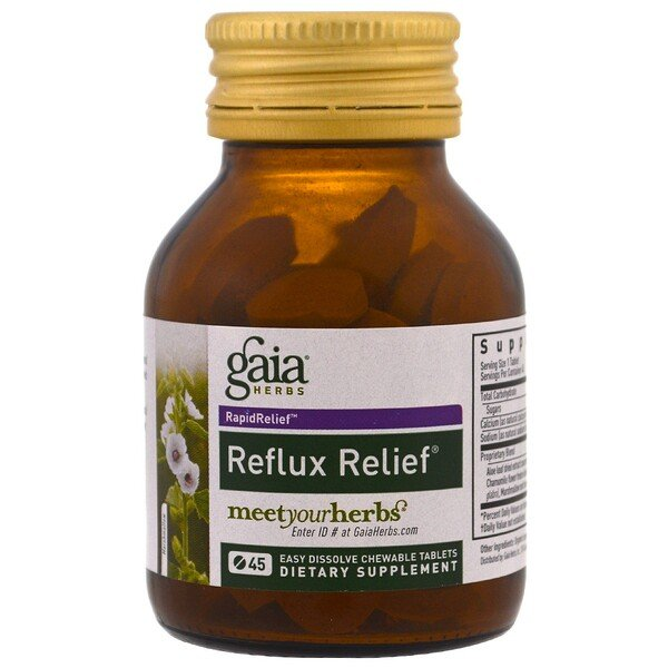 Reflux Relief, 45 Easy Dissolve Chewable Tablets