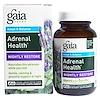 Gaia Herbs, Adrenal Health, Nightly Restore, 60 Vegan Liquid Phyto-Caps