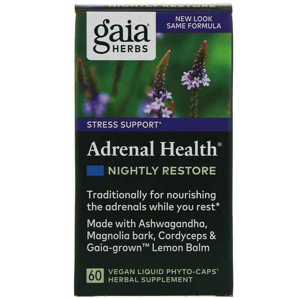 Adrenal Health, Nightly Restore, 60 Vegan Liquid Phyto-Caps