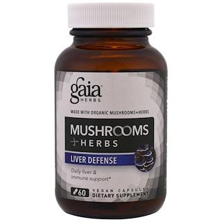 Gaia Herbs, Mushrooms + Herbs, Liver Defense , 60 Veggie Caps