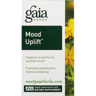 Gaia Herbs, Mood Uplift, 60 веганских фитокапусл с жидким содержимым