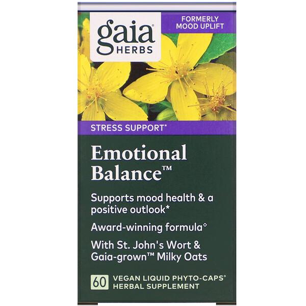 Emotional Balance، 60 كبسولة Phyto نباتية سائلة.