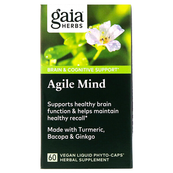 Gaia Herbs, Agile Mind, 60 Vegan Liquid Phyto-Caps (Discontinued Item)