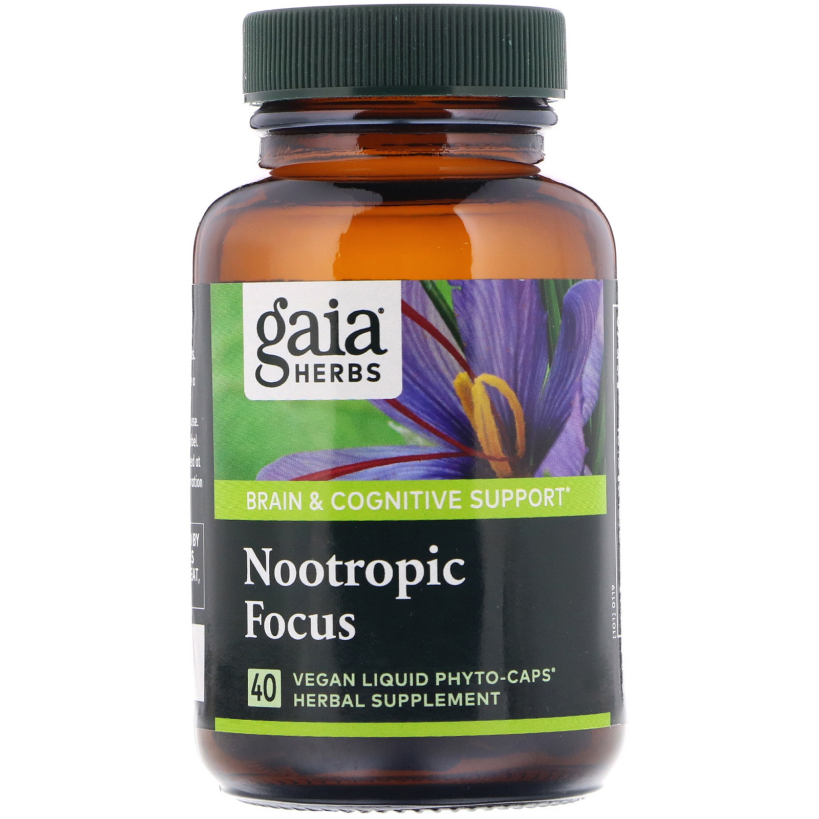 Gaia Herbs, Nootropic Focus, 40 Vegan Liquid Phyto-Caps