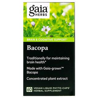 Gaia Herbs, Bacopa, 60 Vegan Liquid Phyto-Caps