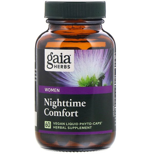 Nighttime Comfort for Women, 60 Vegan Liquid Phyto-Caps