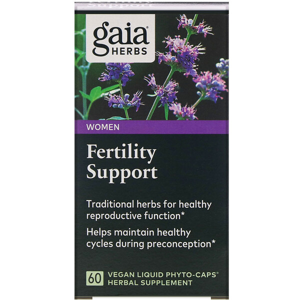 Gaia Herbs, Fertility Support for Women, 60 Vegan Liquid Phyto-Caps
