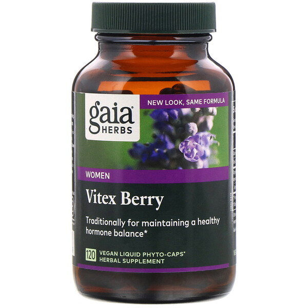Gaia Herbs, Vitex Berry for Women, 120 Vegan Liquid Phyto-Caps