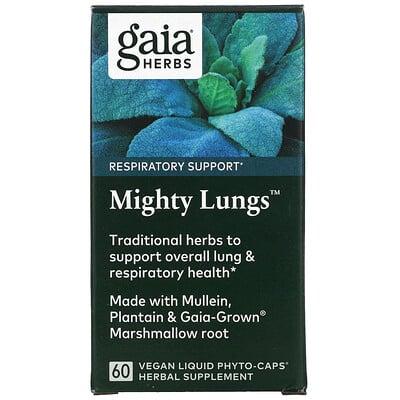 Купить Gaia Herbs Mighty Lungs, 60 Vegan Liquid Phyto-Caps