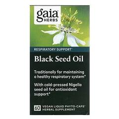 Gaia Herbs, 黑籽油,60 粒全素液體 Phyto-Caps 膠囊