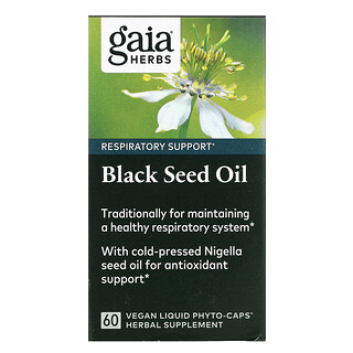 Gaia Herbs, Black Seed Oil, 60 Vegan Liquid Phyto-Caps